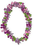 purple lei of aloha